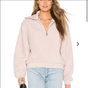 Lovers and Friends zip pullover size small in pink